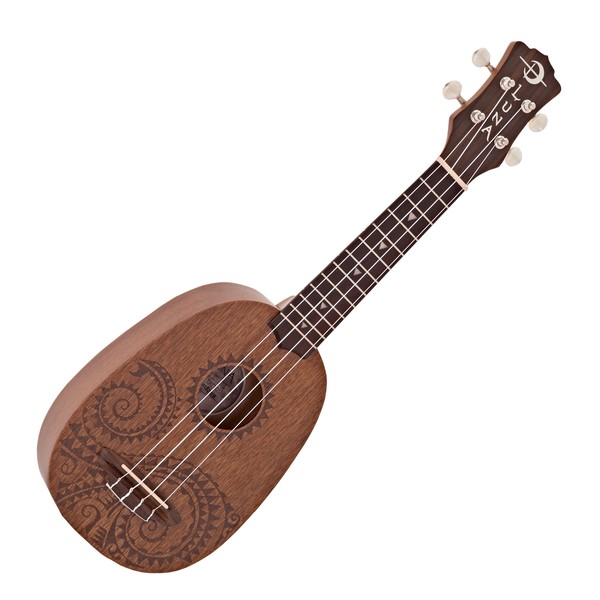 Luna Tattoo Soprano Pineapple Ukulele + Gig Bag