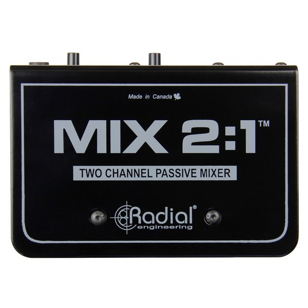 Radial MIX 2:1 Two Channel Audio Combiner & Mixer - Top View