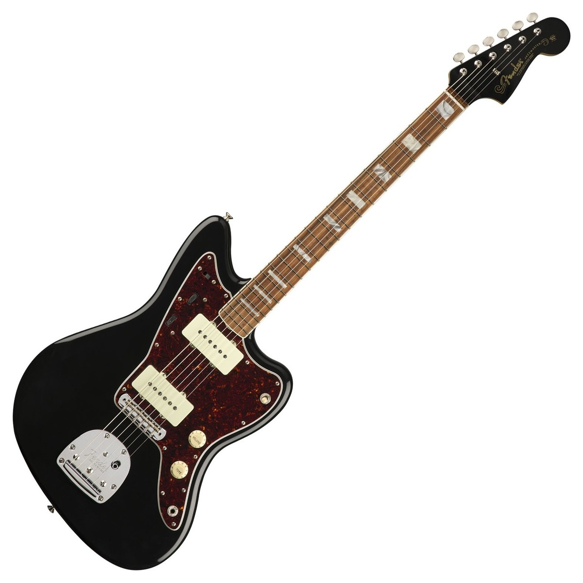 fender 60th anniversary jazzmaster pf black at gear4music. Black Bedroom Furniture Sets. Home Design Ideas
