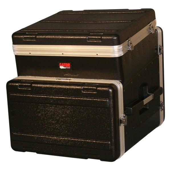 Gator GRC-10X6 Moulded Side Console Rack Case, 10U Top, 6U Side 1