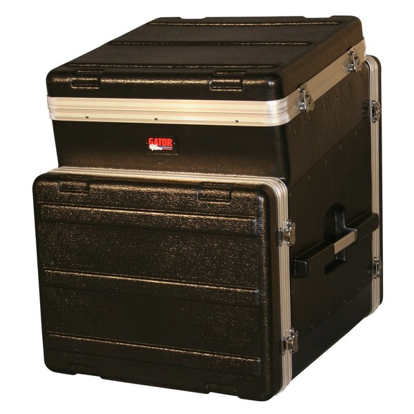 Gator GRC-10X8 Moulded Side Console Rack Case, 10U Top, 8U Side 1