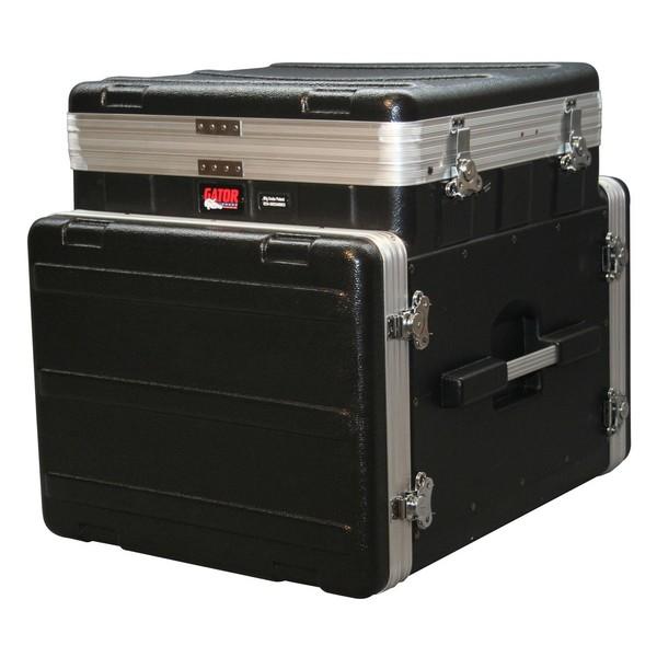 Gator GRC-10X8 PU Moulded Pop-Up Console Rack Case, 10U Top, 8U Side 1