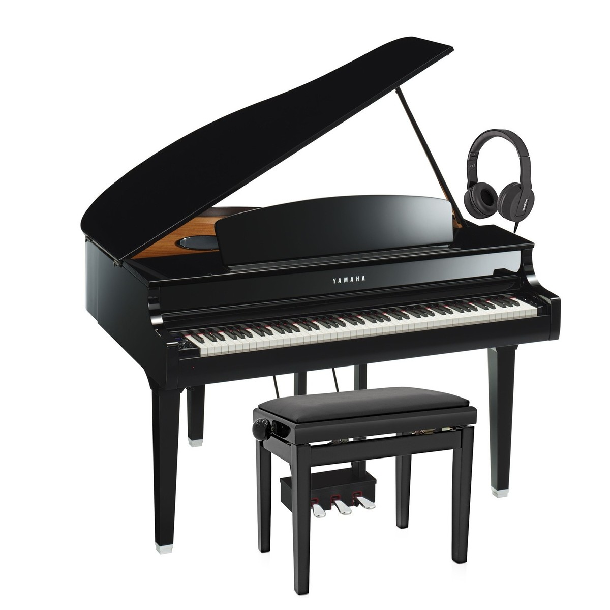 yamaha clp 695 digitaalinen flyygeli jakkara kuulokkeet polished ebony gear4music. Black Bedroom Furniture Sets. Home Design Ideas