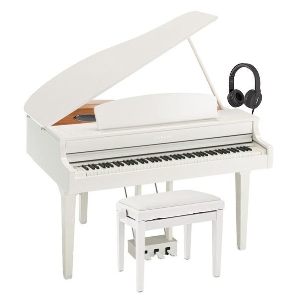 Yamaha CLP 695 Digital Grand Piano Package, Polished White