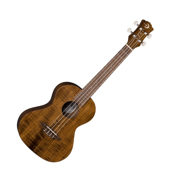Luna Flamed Acacia Tenor Ukulele, Satin Natural