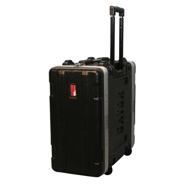 Gator GRR-4L Lockable Moulded Rolling Rack Case, 4U 1