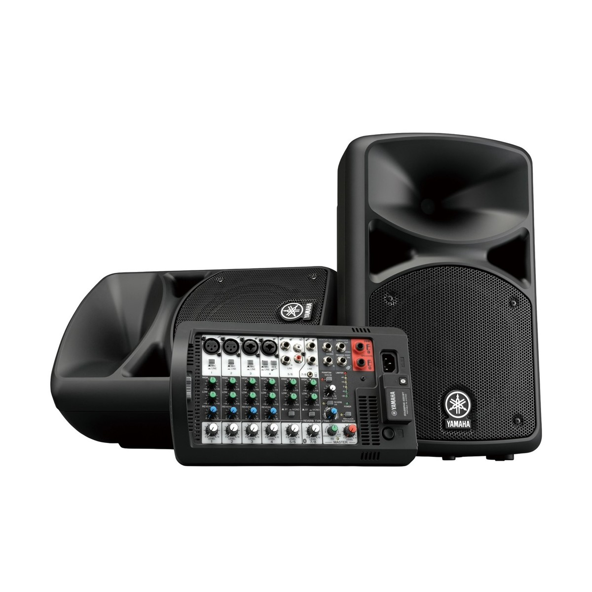 Yamaha stagepas 400bt portable pa system at for Yamaha portable pa system