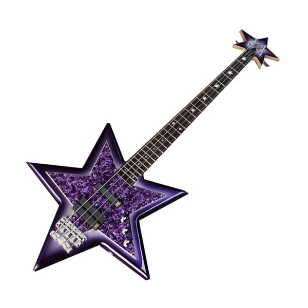 Warwick Rockbass Bootsy Collins Signature Space Bass, Purple