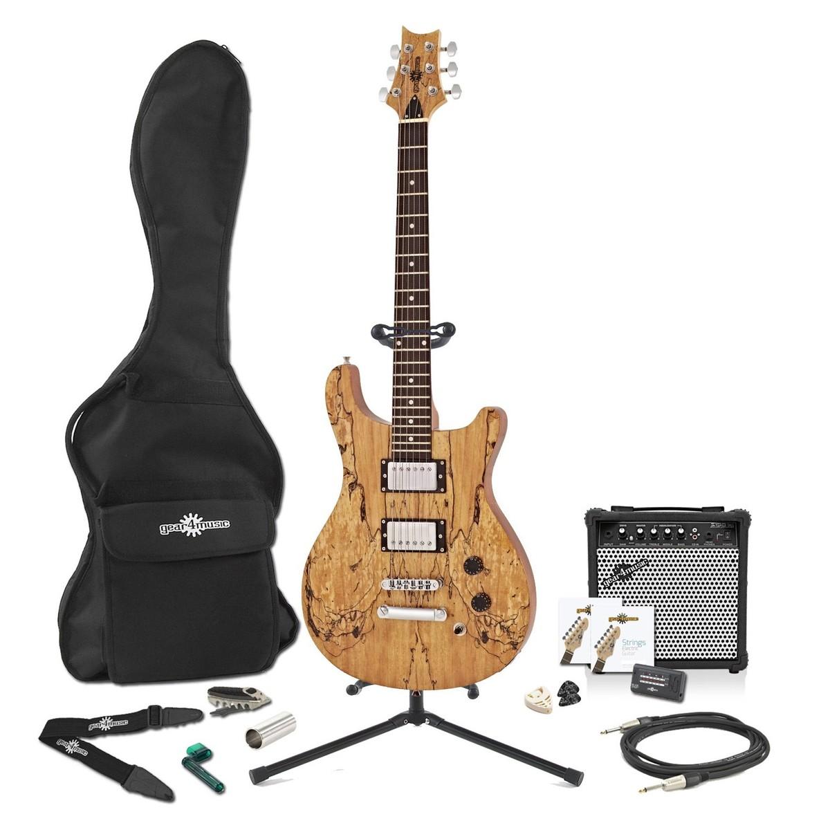 Pasadena-E-Gitarre von Gear4music mit Komplettpaket, gestockter ...