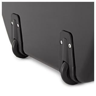 Sinfonica Cello Case Z-TEC Fibreglass with Wheels, Black