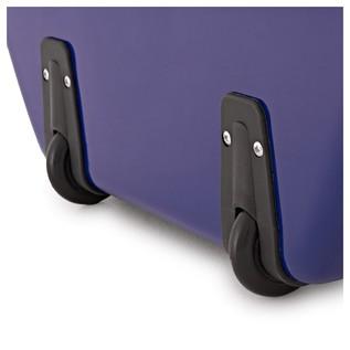 Sinfonica Cello Case Z-TEC Fibreglass with Wheels, Blue
