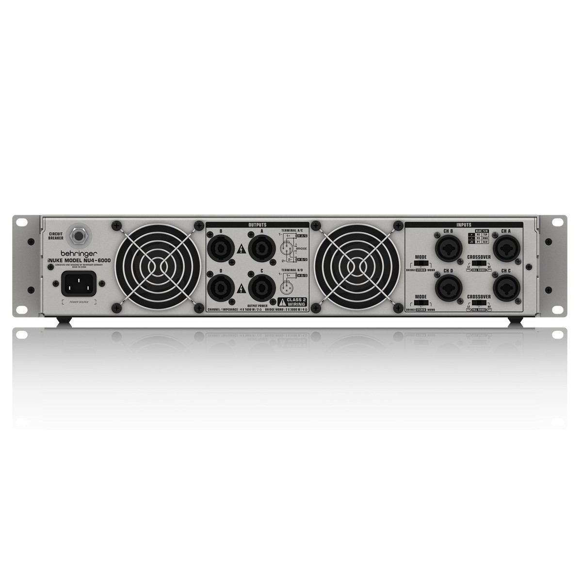Behringer Inuke Nu4 6000 Power Amplifier B Stock At Gear4music Bridged Wiring An Amp Loading Zoom