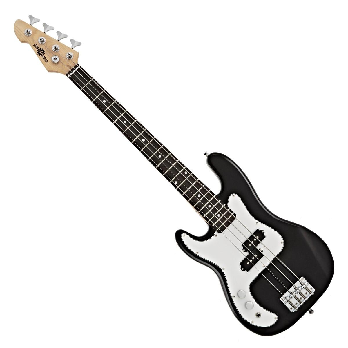 3 4 la left handed bass guitar by gear4music black at gear4music. Black Bedroom Furniture Sets. Home Design Ideas