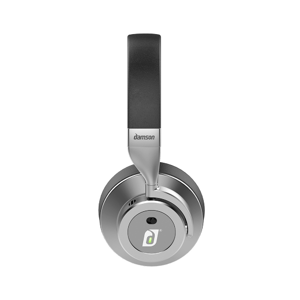 f9410dec694 ... Damson Headspace Wireless Headphones, Graphite Grey - Side (Noise- cancelling function) ...