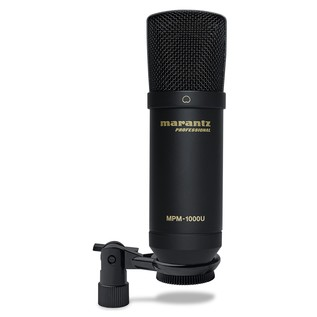 Marantz USB Condenser Microphone - Front With Clip