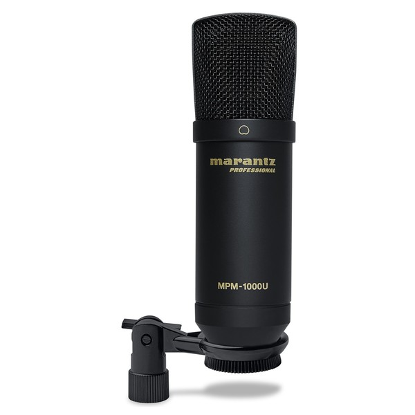 Marantz USB Condenser Microphone - Front With Clip