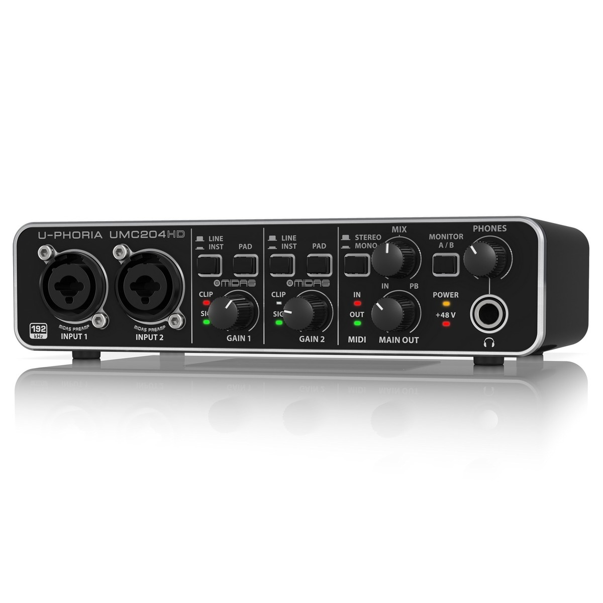 behringer u phoria umc204hd usb audio interface b stock at gear4music. Black Bedroom Furniture Sets. Home Design Ideas