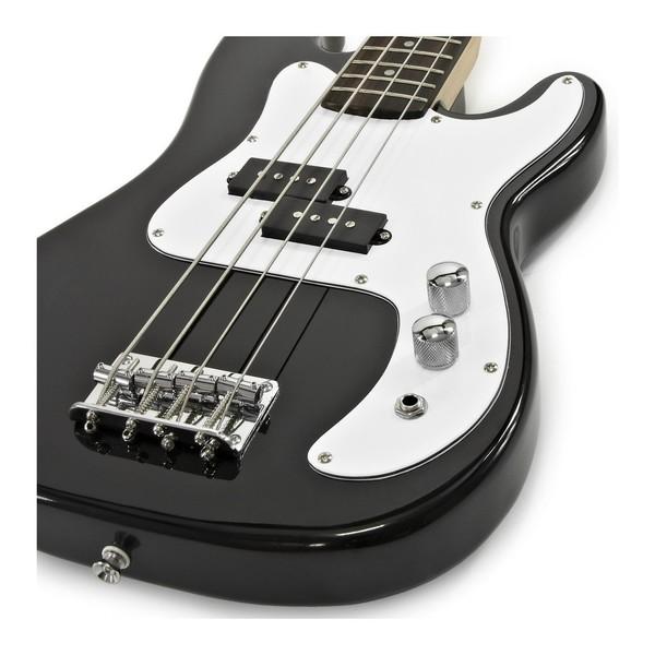 LA Bass Guitar + 35W Amp Pack, Black