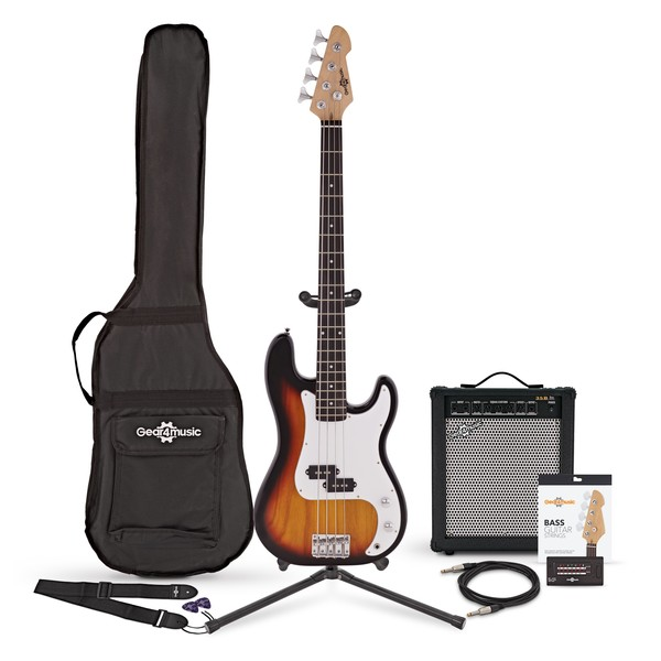 LA Bass Guitar + 35W Amp Pack, Sunburst