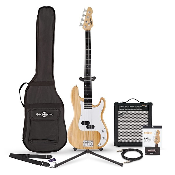LA Bass Guitar + 35W Amp Pack, Natural
