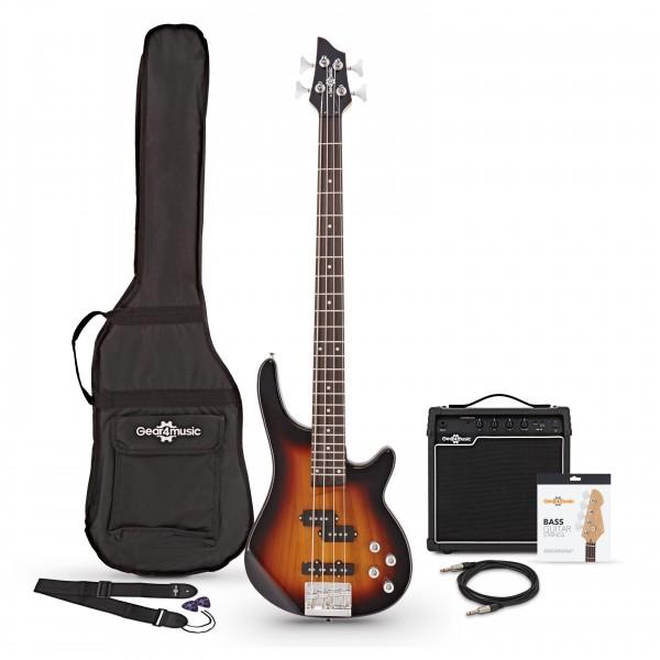 Chicago Bass Guitar + 15W Amp Pack, Sunburst - main