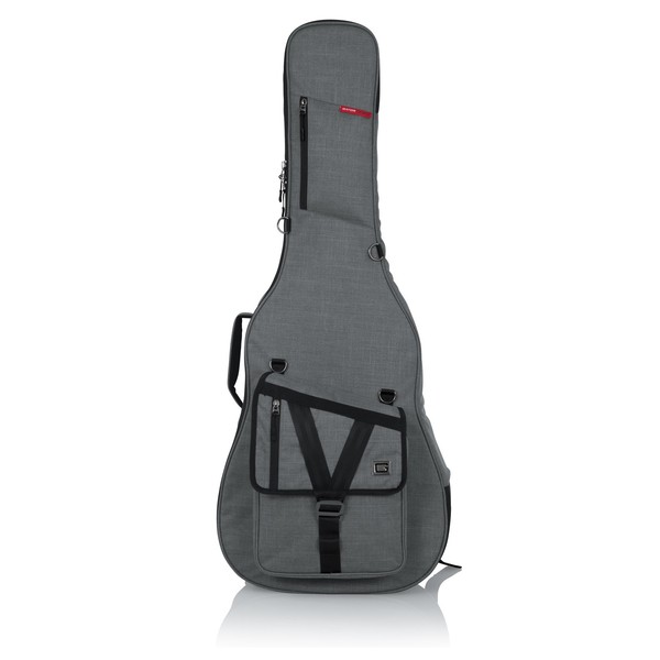 Gator GT-ACOUSTIC-GRY Transit Series Acoustic Guitar Bag, Grey