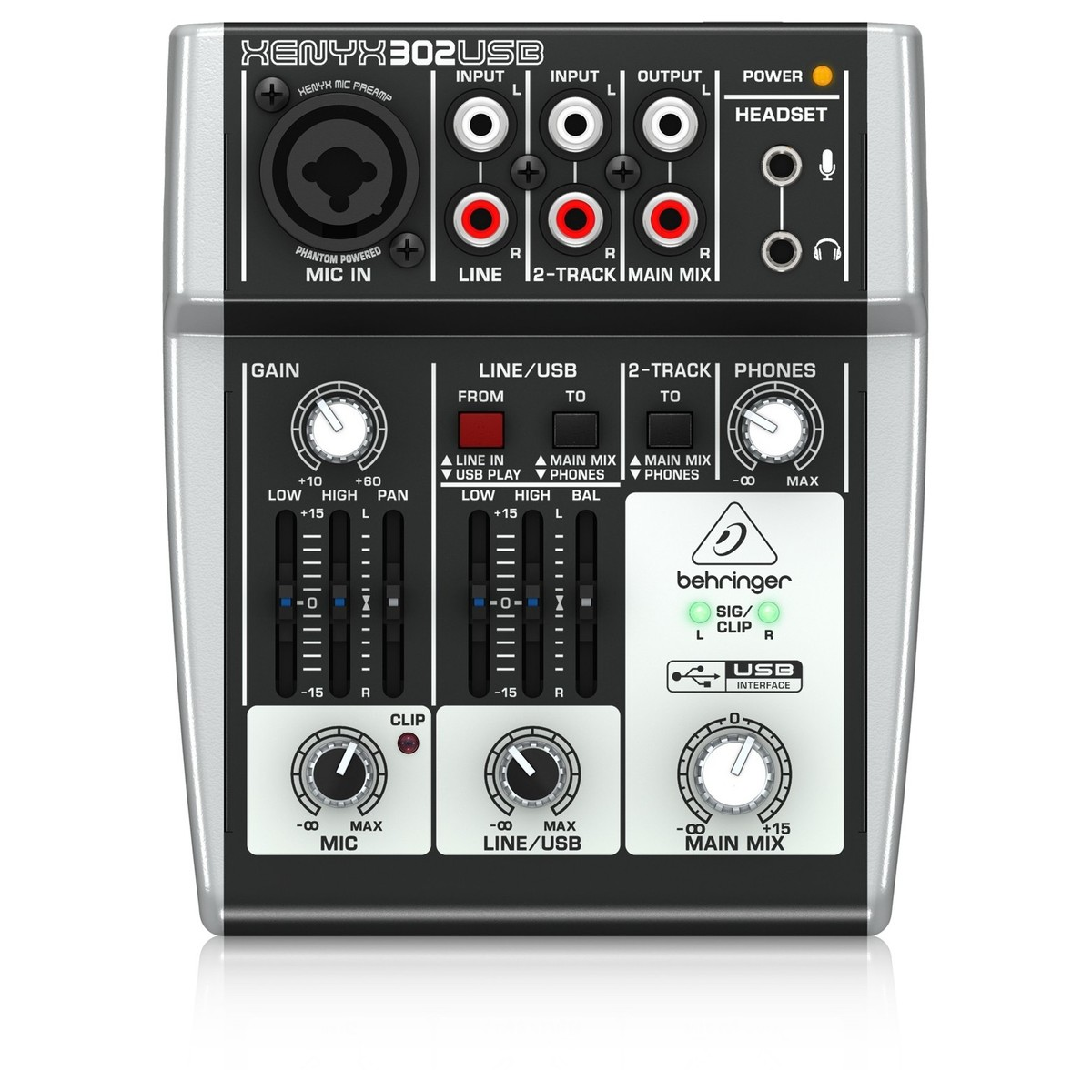 Behringer Xenyx 302usb Usb Analog Mixer B Stock At