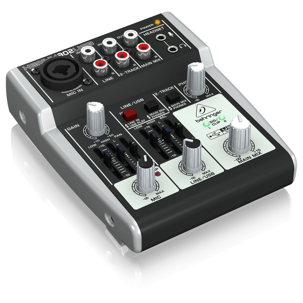 behringer xenyx 302usb usb analog mixer b stock at gear4music. Black Bedroom Furniture Sets. Home Design Ideas