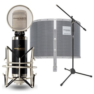Marantz MPM-2000 Condenser Microphone With Reflection Filter & Stand - Bundle