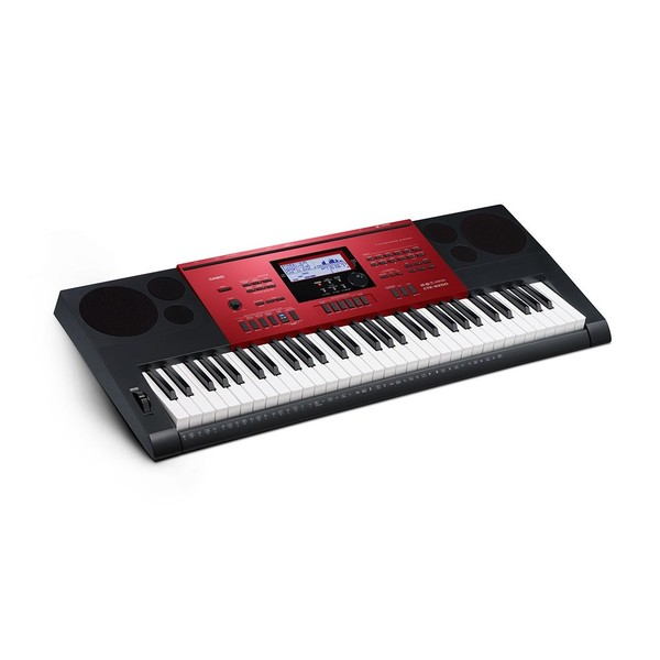 Casio CTK-6250 Portable Keyboard, Black and Red