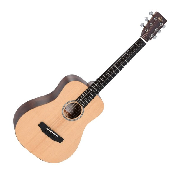 Sigma TM-12+ Acoustic Travel Guitar, Natural Front View
