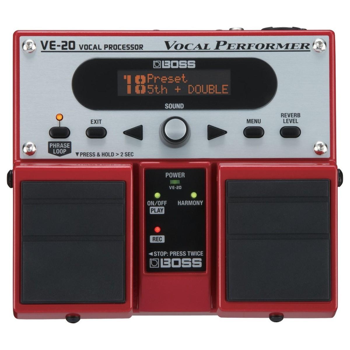 Boss VE-20 Vocal Performer Procesador de Efectos de Voz en ...