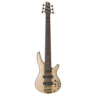 Ibanez SR1306 Premium 6 String Bass 2018, Natural Flat front view