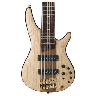 Ibanez SR1306 Premium 6 String Bass 2018, Natural Flat front close up