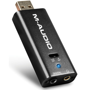 M-Audio Micro DAC Analog to Digital Converter - Angled Up
