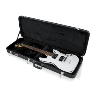 Gator GWE-ELEC Economy Electric Guitar Case, Open with Guitar