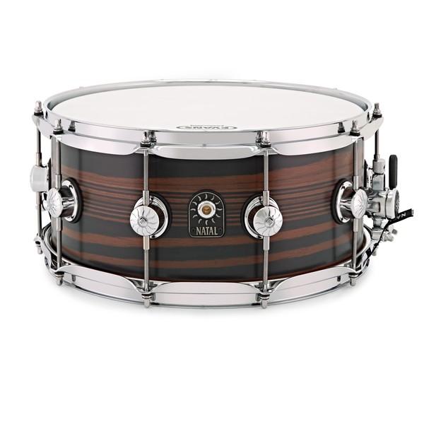 Natal Café Racer 14'' x 6.5'' Snare Drum,Ebony Pinstripe Veneer