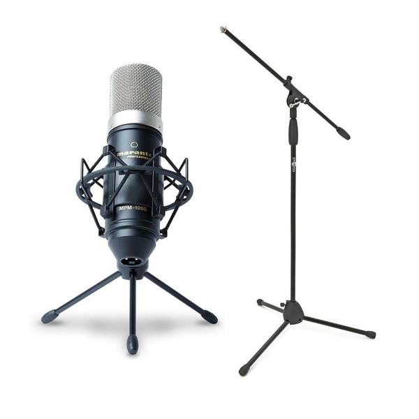 Marantz MPM-1000 Condenser Microphone With Boom Stand - Bundle