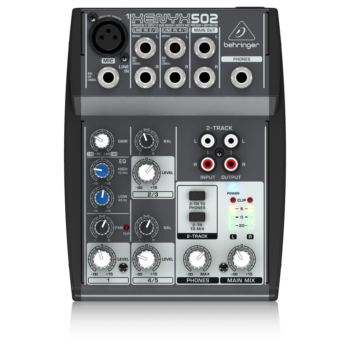 behringer xenyx 502 mixer b stock at gear4music. Black Bedroom Furniture Sets. Home Design Ideas