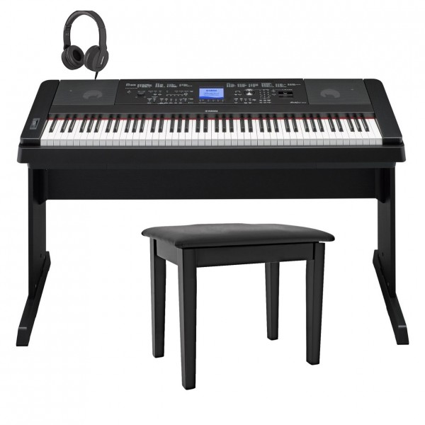 Yamaha DGX 660 Digital Piano with Stand Package, Black