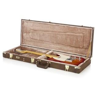 Gator GW-ELECT-VIN Deluxe Electric Guitar Case, Open