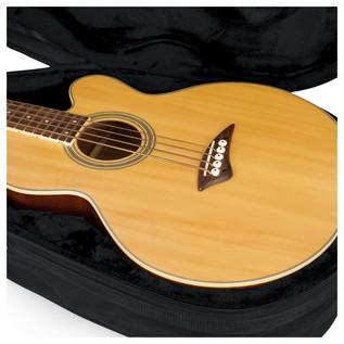 Gator GL-AC-BASS Rigid EPS Acoustic Bass Guitar Case, Close-Up