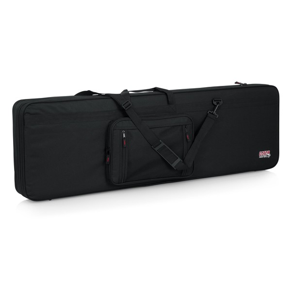 Gator GL-BASS Rigid EPS Electric Bass Guitar Case, Front with Straps