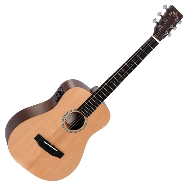 Sigma TM-12+ Electro Acoustic Travel Guitar, Natural Front View