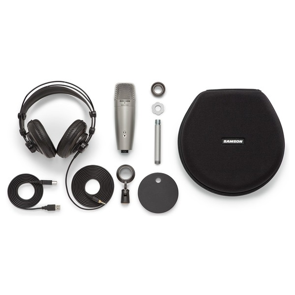 Samson CO1U USB Recording and Podcasting Pack - Full Contents