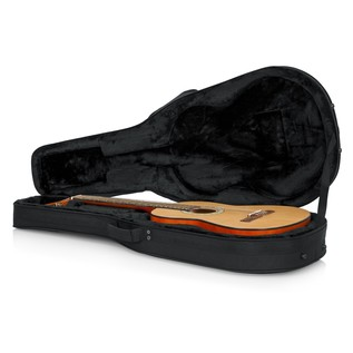 Gator GL-CLASSIC Rigid EPS Classical Acoustic Guitar Case, Open with Guitar