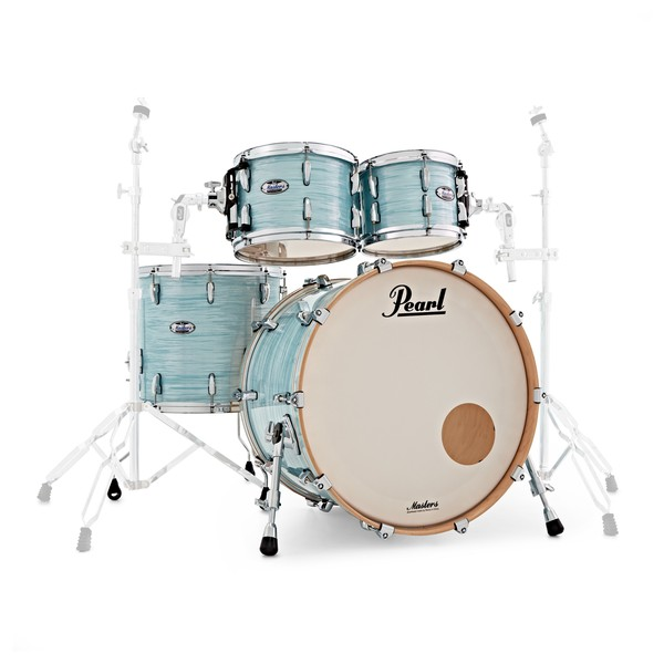 Pearl Masters MCT 22'' Am Fusion 4pc Shell Pack, Ice Blue Oyster