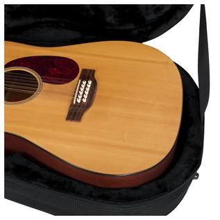 Gator GL-DREAD-12 Rigid EPS Dreadnought Acoustic Guitar Case, Interior Close-Up