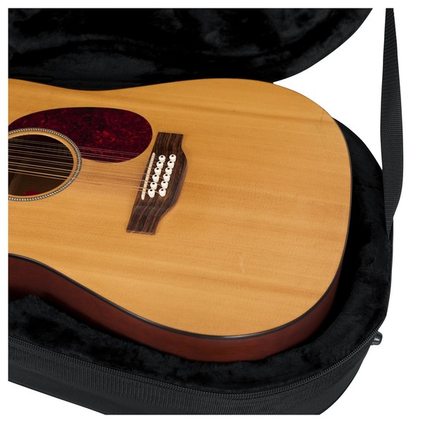 Gator GL-DREAD-12 Rigid EPS Dreadnought Acoustic Guitar Case, Interior Close-Up