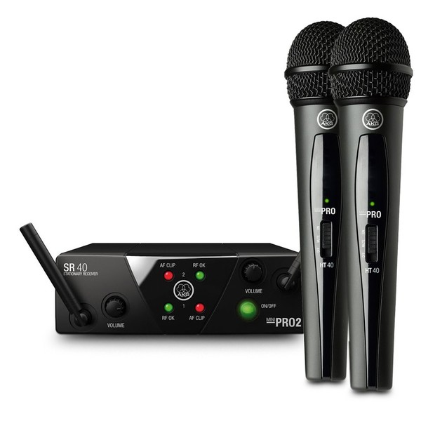 AKG WMS40 Mini Dual Wireless Vocal Microphone System - Main